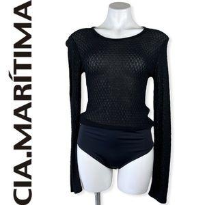 Cia Maritima knit sweater long sleeve bodysuit M